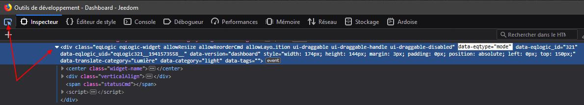 Outils de développement Firefox